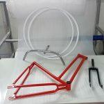 צביעת אופניים - צביעה חשמלית בתנור
